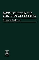 Party politics in the Continental Congress