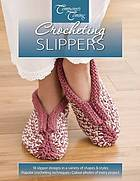 Crocheting slippers