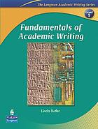 Fundamentals of academic writing.