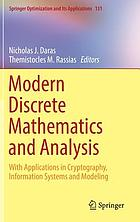 Modern discrete mathematics and analysis : with applications in cryptography, information systems and modeling