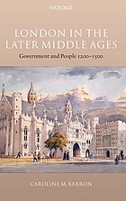 London in the Later Middle Ages.
