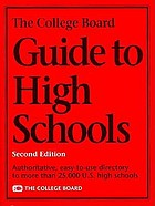 The College Board guide to high schools.