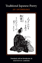 Traditional Japanese poetry : an anthology