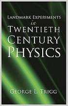 Landmark experiments in twentieth century physics