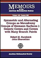 Symmetric and alternating groups as monodromy groups of Riemann surfaces I : generic covers and covers with many branch points