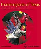 Hummingbirds of Texas with their New Mexico and Arizona ranges