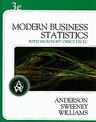 Modern business statistics with Microsoft Office Excel