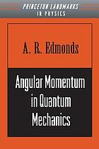 Angular momentum in quantum mechanics