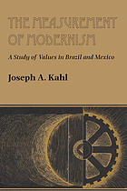 The measurement of modernism : a study of values in Brazil and Mexico