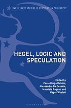 Hegel, logic and speculation