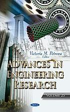 Advances in engineering research. Volume 25