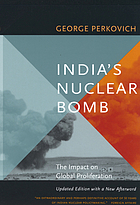 India's nuclear bomb : the impact on global proliferation