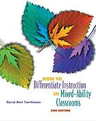 Differentiated instruction professional development planner and resource package (stage 1).