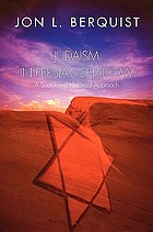 Judaism in Persia's shadow : a social and historical approach