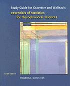 Study guide : essentials of statistics for the behavioral sciences