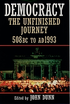 Democracy : the infinished journey, 508 BC to AD 1993