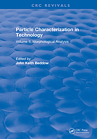 Particle characterization in technology. Volume II, Morphological analysis