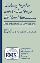 Working together with God to shape the new millennium : opportunities and limitations