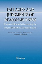 Fallacies and judgments of reasonableness : empirical research concerning the pragma-dialectical discussion rules
