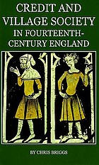 Credit and village society in fourteenth-century England