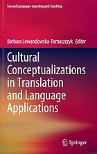 Cultural conceptualizations in translation and language