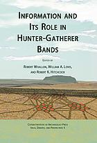 Information and its role in hunter-gatherer bands