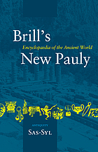 Brill's New Pauly : encyclopaedia of the ancient world : antiquity. Vol. 13, Sas-Syl