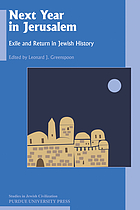 Next year in Jerusalem : exile and return in Jewish history