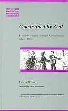 Constrained by zeal : female spirituality amongst non-conformists 1825-1875