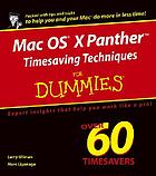 Mac OS X Panther timesaving techniques for dummies