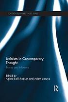 Judaism in contemporary thought : traces and influence