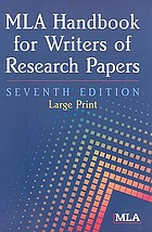 MLA handbook for writers of research papers.