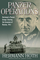 Panzer operations : Germany's Panzer Group 3 during the invasion of Russia, 1941