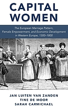 Capital women : the European marriage pattern, female empowerment and economic development in Western Europe 1300-1800