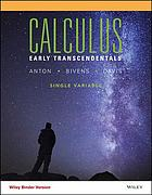 Calculus : early transcendentals single variable