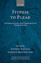 Fitness to plead : international and comparative perspectives