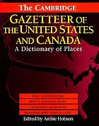The Cambridge gazetteer of the United States and Canada : a dictionary of places