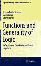 Functions and generality of logic : reflections on Dedekind's and Frege's logicisms