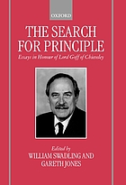 The search for principle : essays in honour of Lord Goff of Chieveley