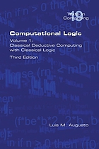 COMPUTATIONAL LOGIC : volume 1.