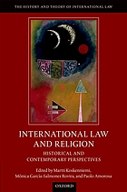 International law and religion : historical and contemporary perspectives