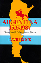Argentina, 1516-1987 : from Spanish colonization to Alfonsin