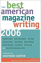 The best American magazine writing, 2006