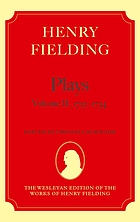 Plays. Vol. 2, 1731-1734