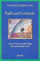 Faith and certitude