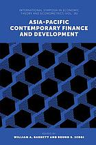 Asia-Pacific contemporary finance and development