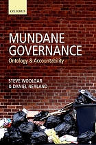 Mundane governance : ontology and accountability