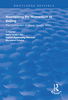 Maintaining the momentum of Beijing : the contribution of African gender NGOs