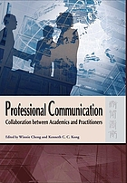 Professional communication : collaboration between academics and practitioners