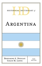 Historical dictionary of Argentina